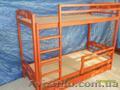 Массивная Двухъярусная кровать  из дерева ольха.