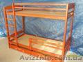 Массивная Двухъярусная кровать  из дерева ольха. - Изображение #2, Объявление #516095