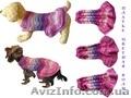 Одежда животным свяжу платье цветная Волна