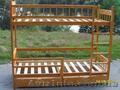 Массивная Двухъярусная кровать  из дерева ольха. - Изображение #4, Объявление #516095