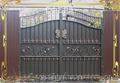 Ворота распашные,  металлические сварные ворота,  кованые,  фото,  купить.