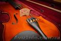 Продается скрипка из натурального дерева со смычком и футляром, Объявление #1463739